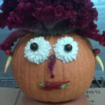 fall pumpkin head