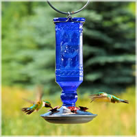 small stain glass hummingbird feeder